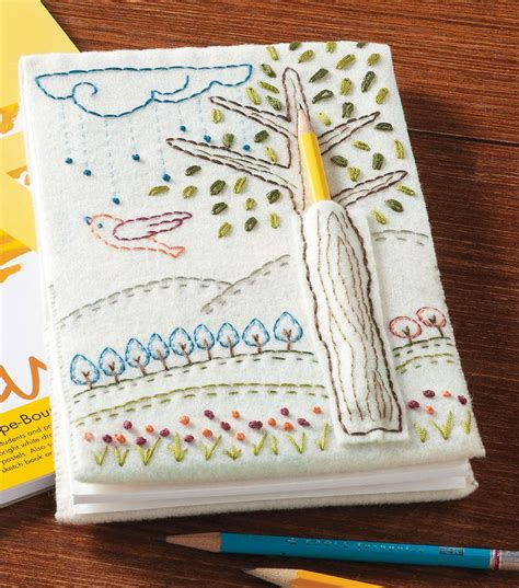 doodle pen holder embroidered doodle notebookembroidered doodle notebook