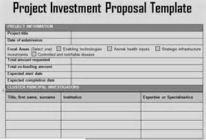investment business plan template get project investment template project