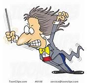 Cartoon Music Conductor Grimacing 6108 By Ron Leishman