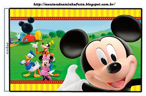 la casa de mickey mouse videos gratis casa de mickey etiquetas para candy bar para imprimir