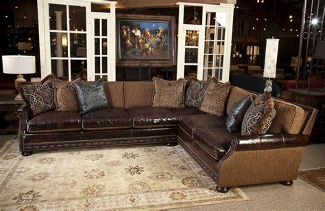 Living Room Ideas Leather And Fabric Sally Mae Sofa Sectional Leather Sectional Sofas