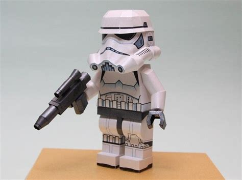 wars lego stormtrooper free papercraft