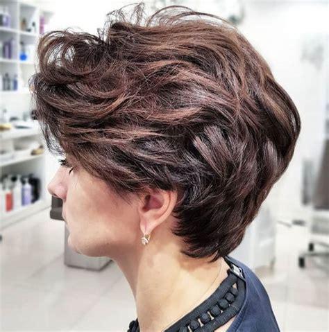 wavy wedge  short hairstyles