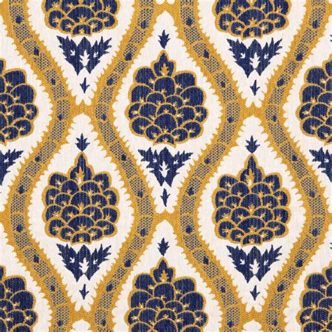 Blue And Yellow Upholstery Fabric by Navy Blue Mustard Yellow Upholstery Fabric Modern Woven