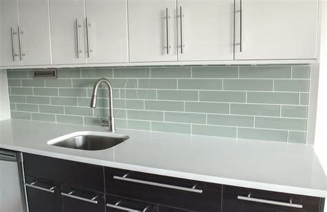 Cheap Glass Tiles For Kitchen Backsplashes Clear Glass Backsplash Home Design