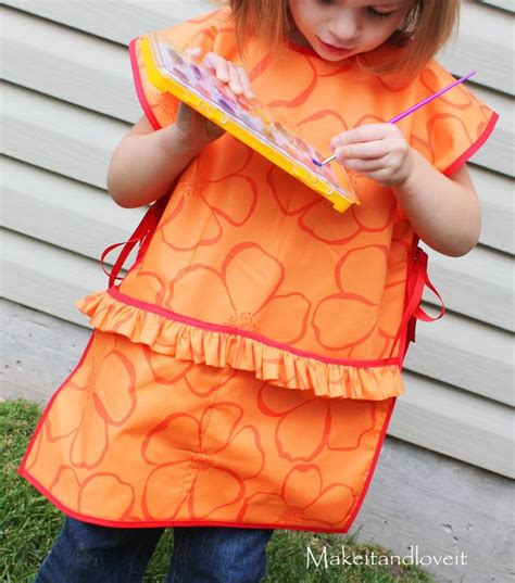 pattern child s art smock children s art smock make it and love it sewing