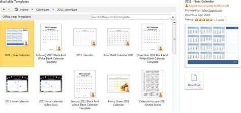 Make Calendar Create A 2011 Calendar In Word 2010
