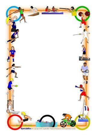 olympics  page borders sb sparklebox vegyes