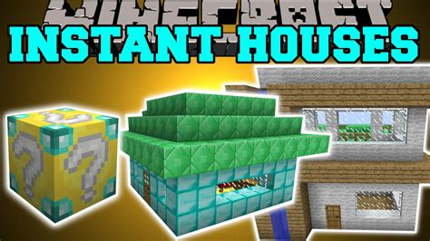 minecraft instant house mod minecraft instant house mod custom houses tree house library more mod showcase