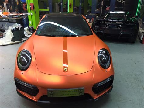 orange porsche 911 turbo 2017 porsche 911 turbo s facelift gets pearlescent matte