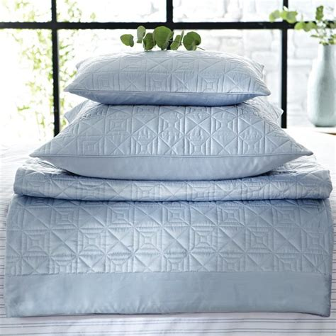 satin throws bedroom hotel langdon blue satin bedding accessories at bedeck