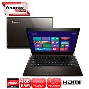 Second Laptop Lenovo G485 Amd notebook lenovo g485 amd c 60 4gb 500gb gravador de dvd leitor de cart 245 es hdmi