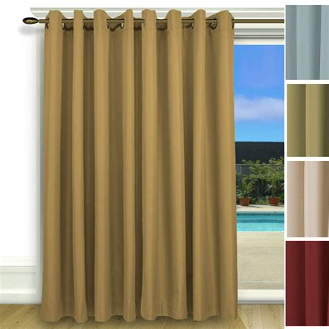 thermal patio curtains elegance insulated thermal grommet curtain patio panel