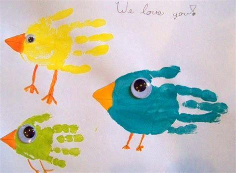 candice ashment art birds hand print art