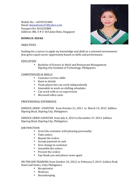 sle resume for ojt office management students resume donna