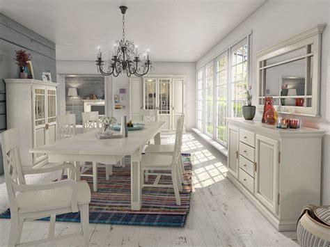 Wohnzimmermöbel Landhausstil Weiss by Moderne Und Klassische Esszimmer Aus Massivem Holz In Wei 223