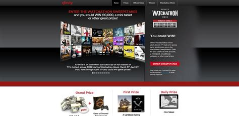 Watchathon Sweepstakes - xfinity watchathon sweepstakes