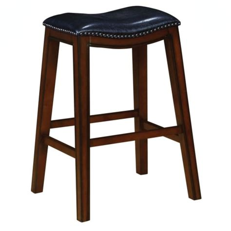 Black Nailhead Bar Stools by Black Leatherette Bar Stool W Nailhead Trim