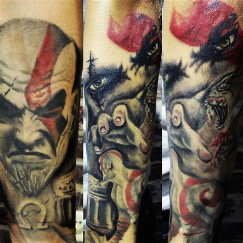 kratos tattoo www tattnroll kratos sleeve still in progress