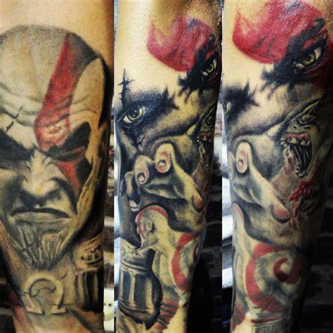 kratos tattoo www tattnroll kratos sleeve still in progress