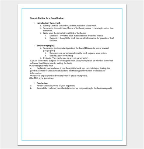 template for a book book outline template 17 sles exles and formats