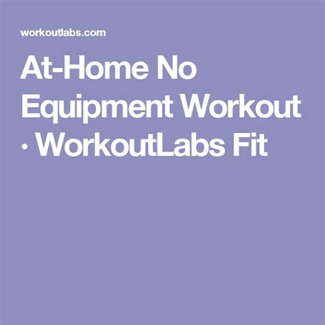 17 best ideas about no equipment workout on