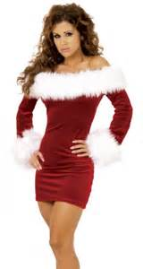 Cute red and white combination of christmas party dresses