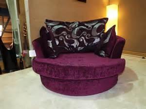 Purple Cuddle Chair zina purple chenille cuddle swivel chair large
