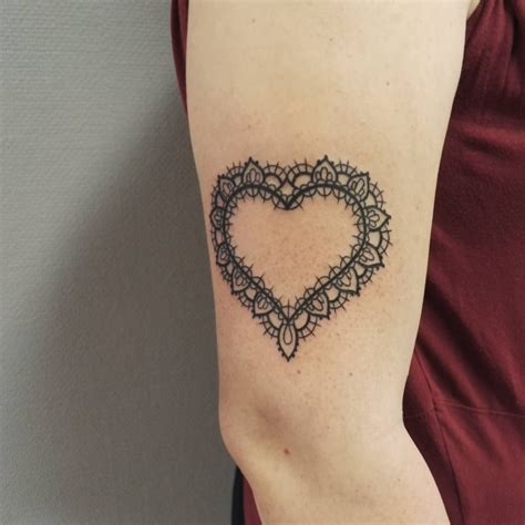 tattoo arm heart 21 lace tattoo designs ideas design trends premium