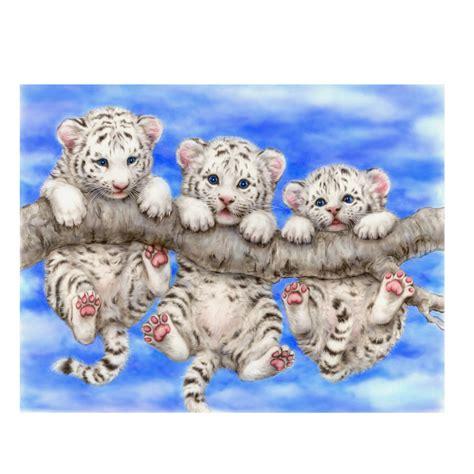 wallpaper anak harimau lucu pinturas de tigre blanco compra lotes baratos de