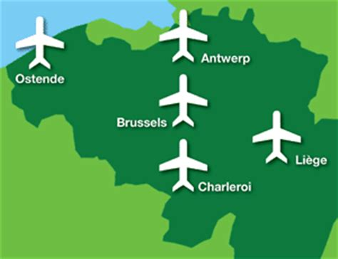 map of belgium airports airports in belgium map
