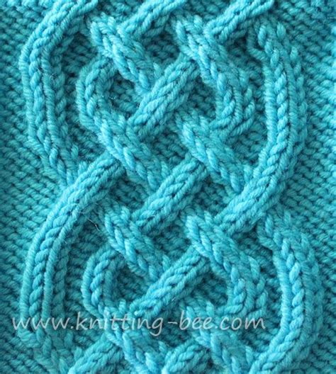 knit and knot cable stitches and celtic knots on