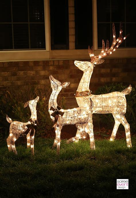 outdoor lighted deer family light up reindeer outdoor decorations inspiration reindeer home and