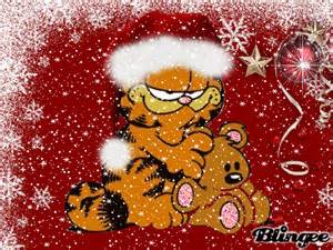 christmas garfield picture 102521522 blingee