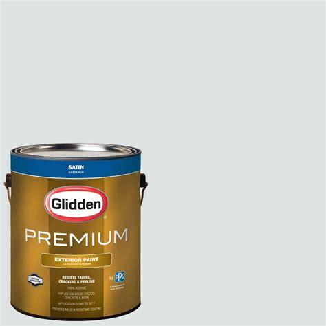 glidden premium 1 gal hdgcn30u silver streak satin exterior paint hdgcn30upx 01sa the