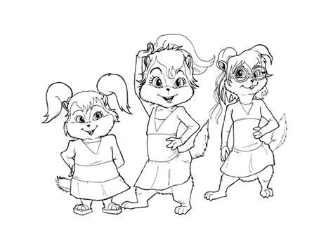 Alvin And The Chipmunks Coloring Pages Free Printable Alvin And The Chipmunks Colouring Pages