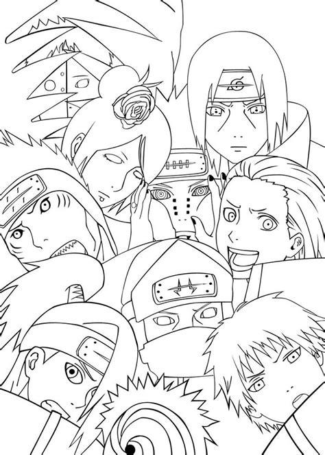 Akatsuki Team | Naruto Coloring Pages | Pinterest