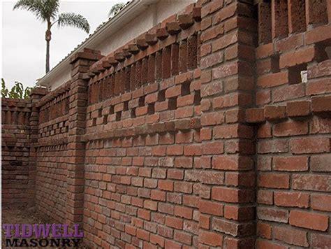 brick wall design san diego masonry contractors tidwell masonry brick