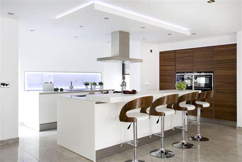 Raised Kitchen Island walnut and white kitchen