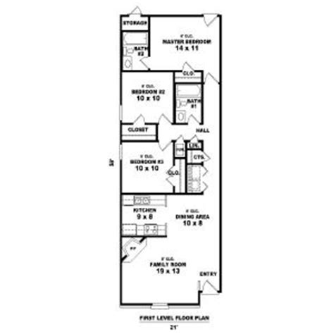 long narrow house floor plans narrow houses floor plans house plan 81 13857 long and