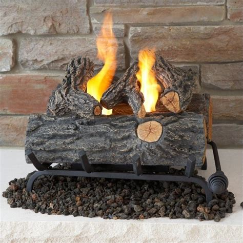 fireplace log set real 18 inch conversion oak log set for gel fuel