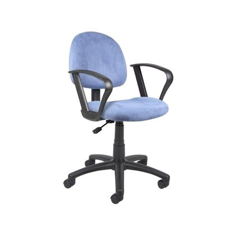 Microfiber Office Chair by Microfiber Deluxe Posture Office Chair With Loop Arms In