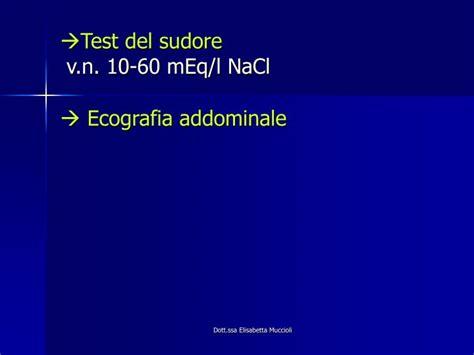 test sudore ppt malattia di hirschprung megacolon agangliare