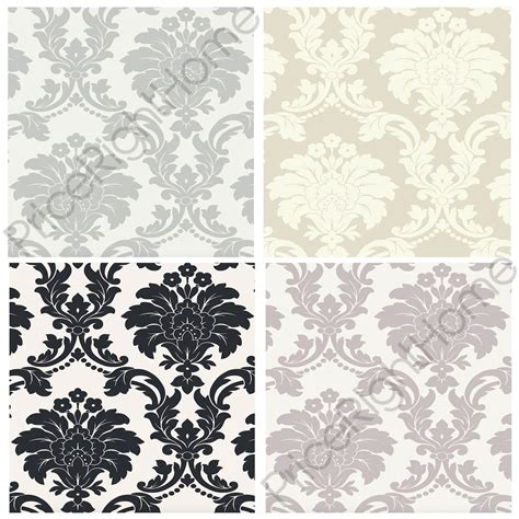 grey wallpaper on ebay arthouse romeo damask wallpaper black blush grey