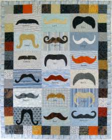 awesome mustache quilt by aletheaballard craftsy