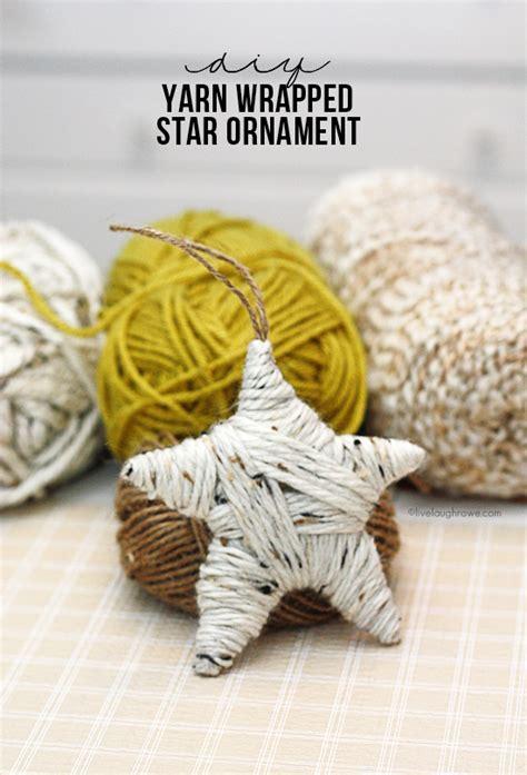 diy ornament yarn wrapped ornament live laugh rowe