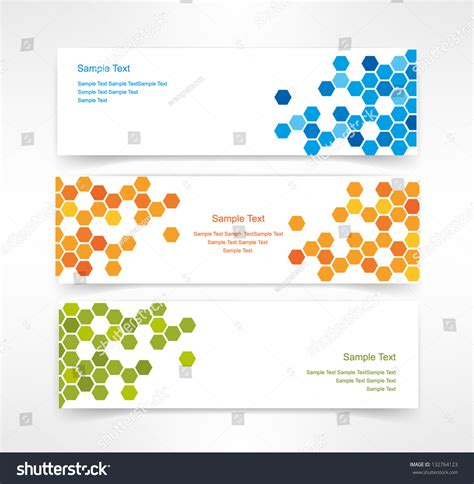 html header design online vector set of three header designs business 132764123