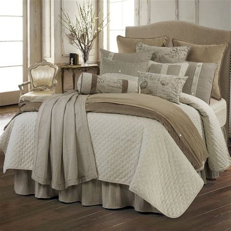 Comforter Coverlet delectably yours home interiors and decor new fairfield beige coverlet bedding collection