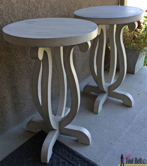 Two Family Home Plans curvy side table her tool belt