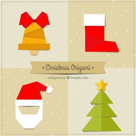 Origami Natal - cole 231 227 o do natal origami baixar vetores gr 225 tis